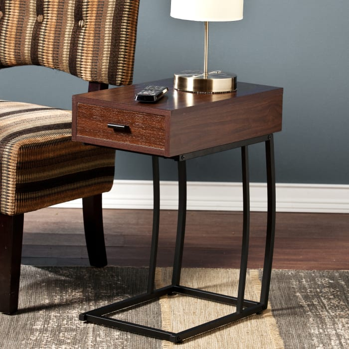 Cityview Side Table with Power & USB