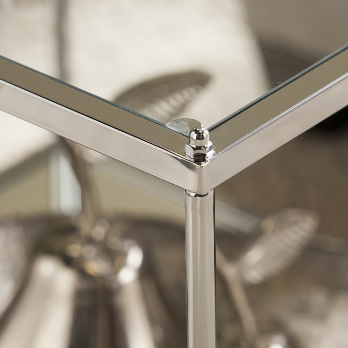 Chrome Mirrored End Table
