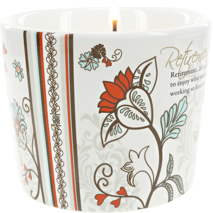 Retirement - 8 oz Soy Wax CandlenScent: Tranquility