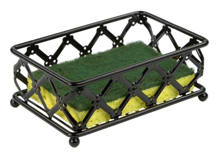 Lattice Collection Black Sponge Holder