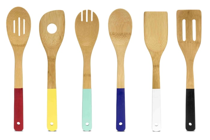 Color Coded Bamboo Kitchen Tool Set of 6