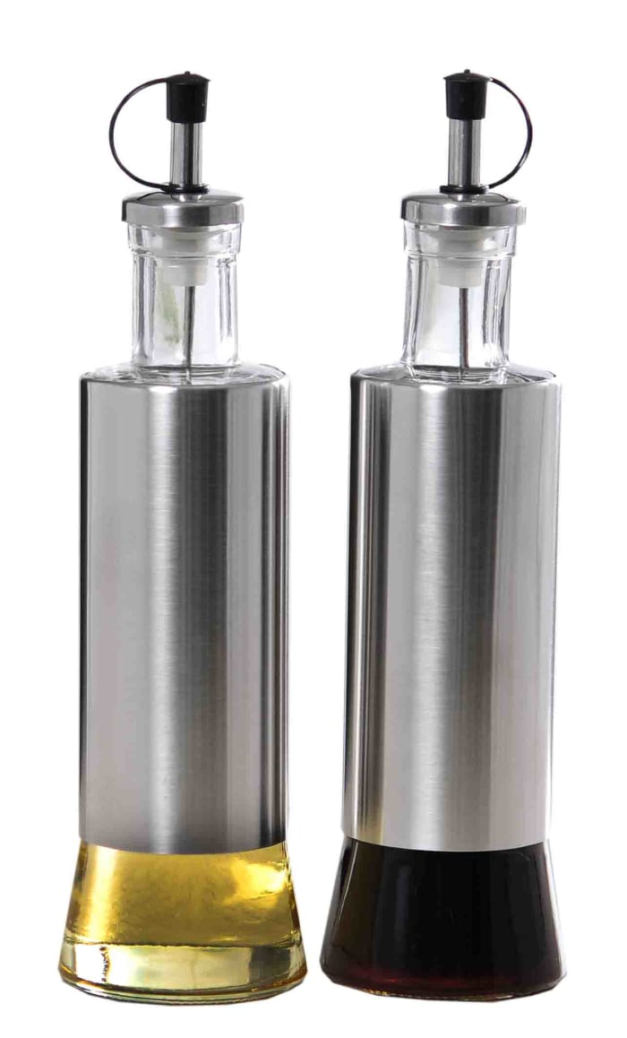 Essence Collection Silver Oil and Vinegar Set, 2 Piece Set
