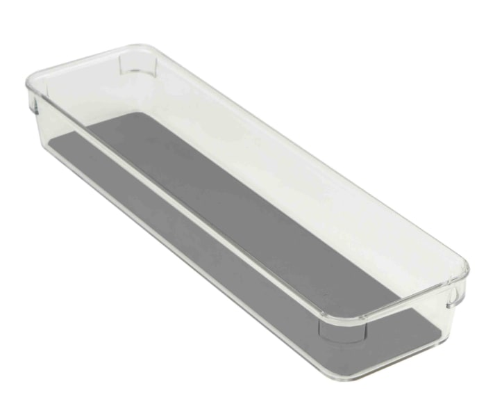 """3"""" x 12"""" x 2"""" Plastic Drawer Organizer with Rubber Liner"""