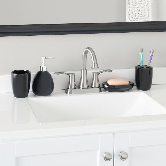 Black Bath Accessory Set of 4