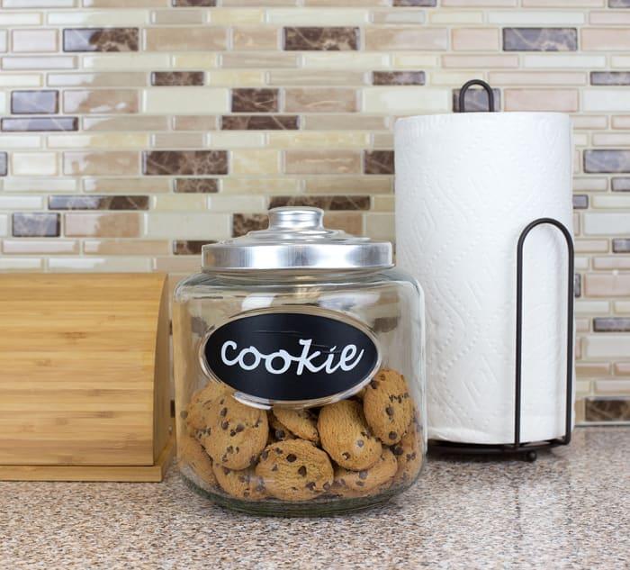 Glass Cookie Jar with Metal Top