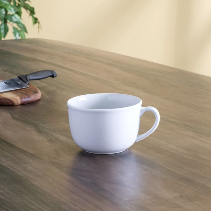 22 oz. Jumbo White Ceramic Mug
