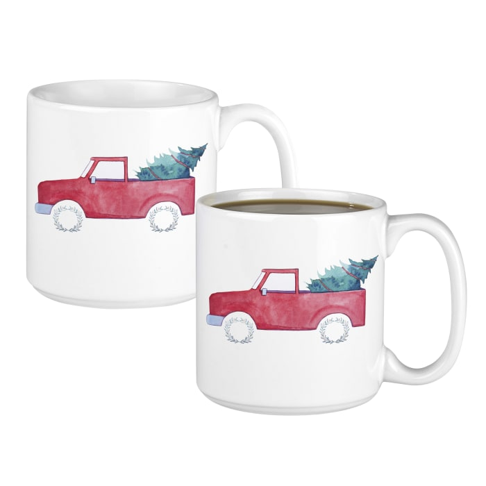 Christmas Tree Truck 20 oz. Coffee Mugs Set