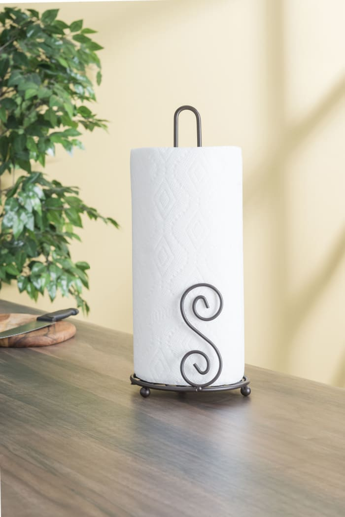 Scroll Collection Bronze Paper Towel Holder