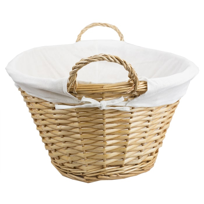Wicker Laundry Basket with Removeable Liner