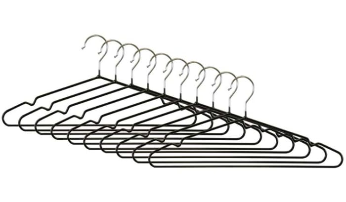 Wire Collection Black Chrome PVC Coated Hangers