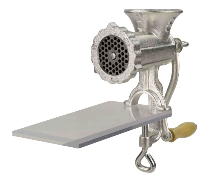 Silver Cast Iron Meat Grinder