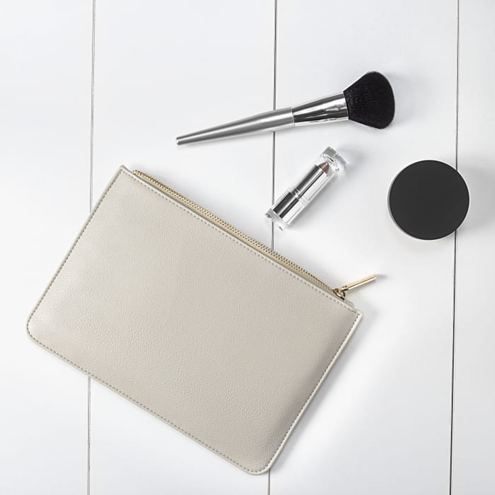 Cathy's Concepts Gray Vegan Leather Clutch