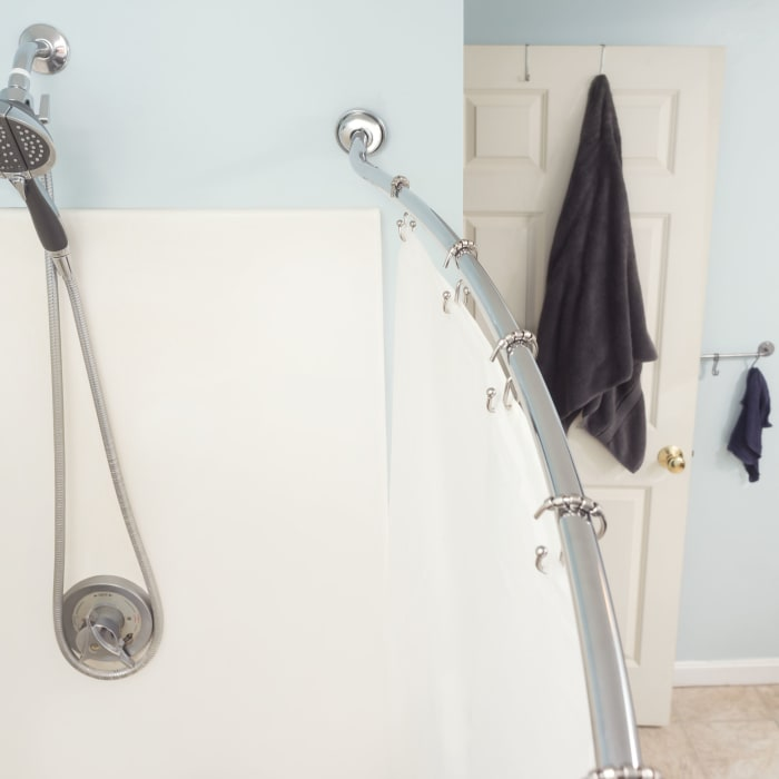 Chrome Steel Curved Shower Rod