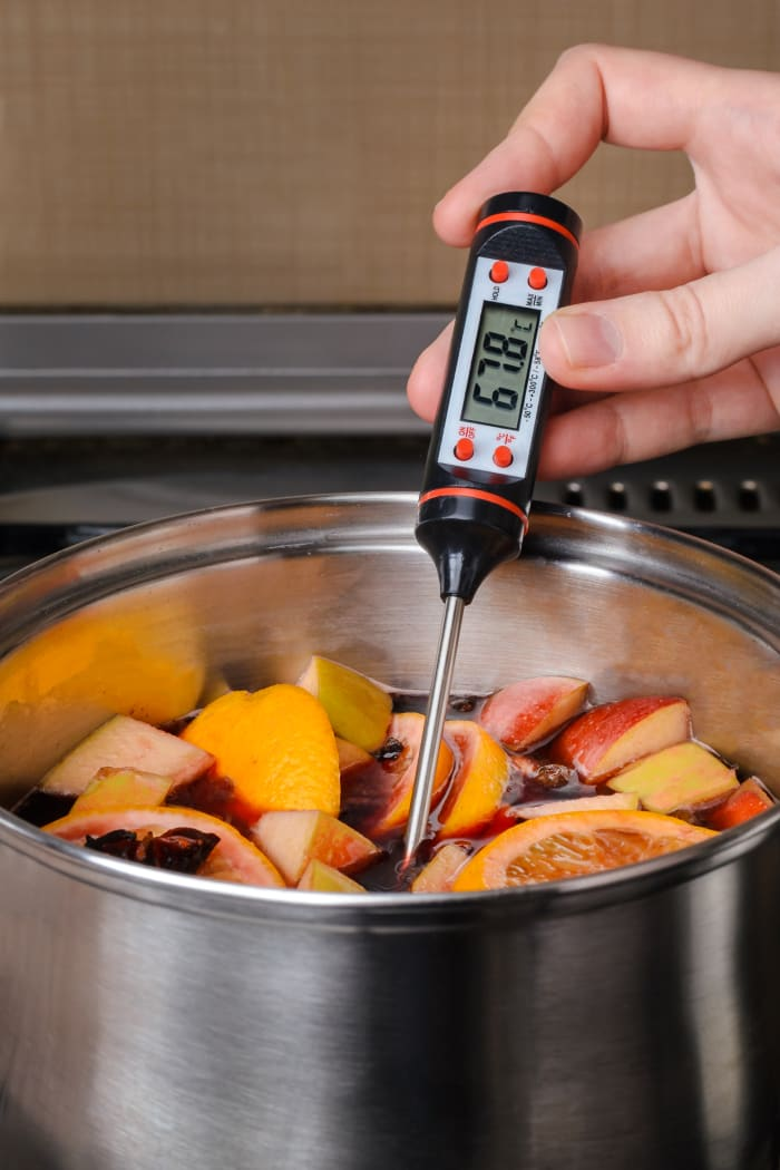 Black Digital Cooking Thermometer