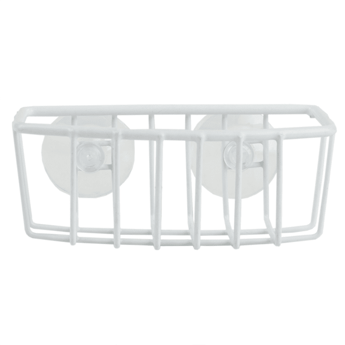 White Sponge Holder with Suction Cups