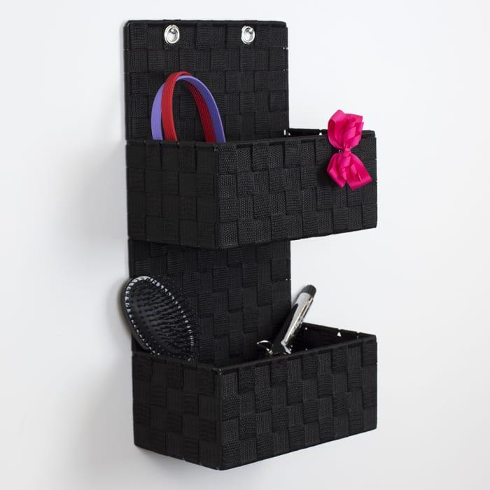 2 Tier Black Hanging Organizer