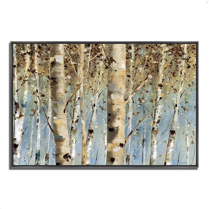 Fine Art Giclee Print on Gallery Wrap Canvas 47 In. x 32 In. White Forest I by Lisa Audit Multi Color