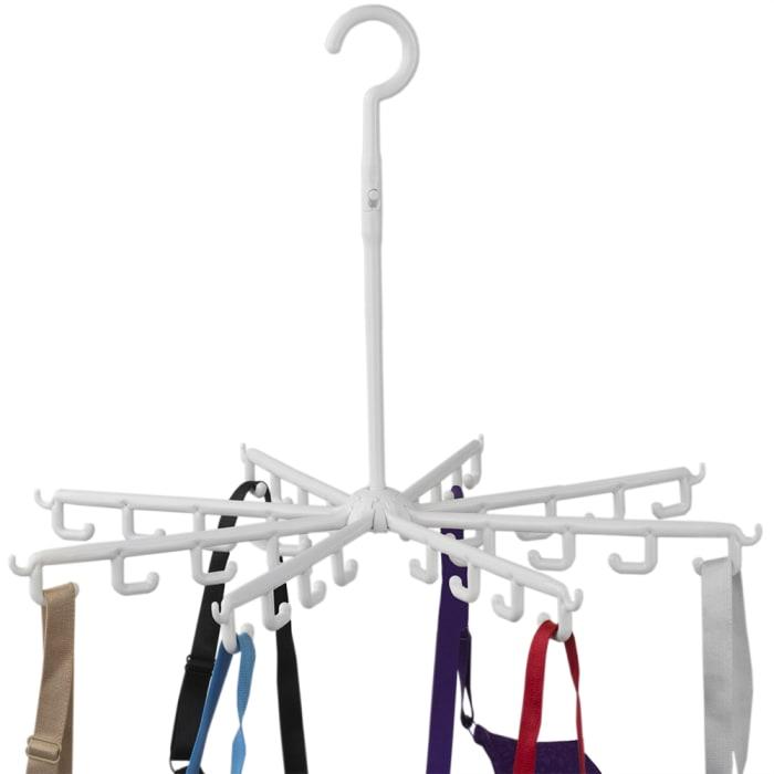 40 Hook White Plastic Carousel Drying Rack