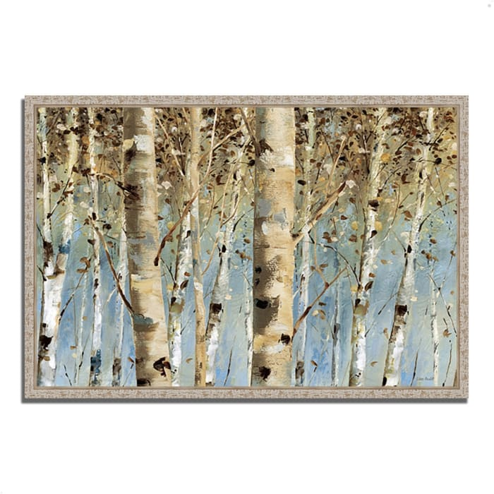Fine Art Giclee Print on Gallery Wrap Canvas 38 In. x 26 In. White Forest I by Lisa Audit Multi Color
