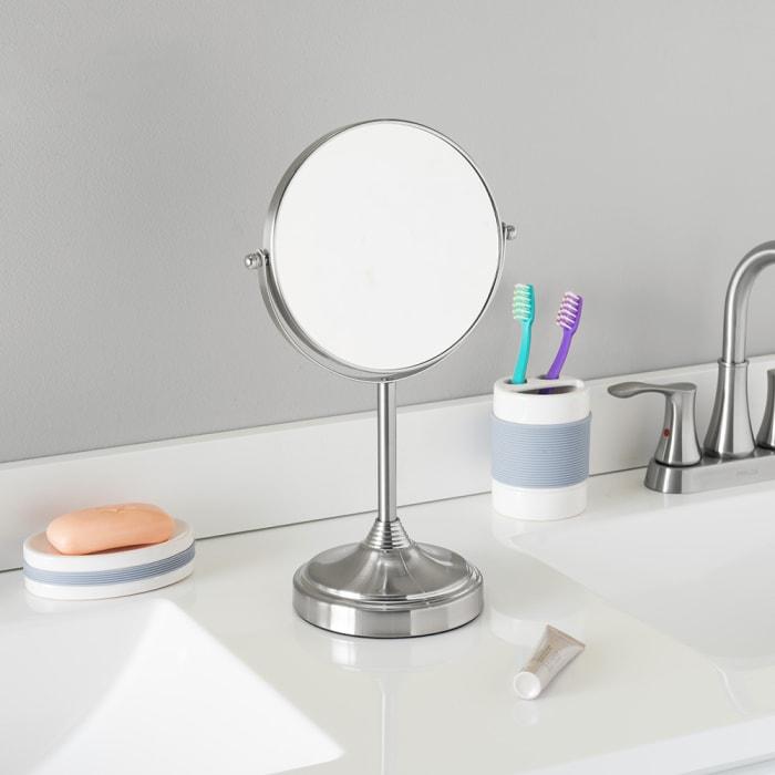 Elizabeth Collection Satin Nickel Cosmetic Mirror