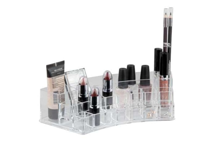 19 Compartment Clear Make-up Organizer