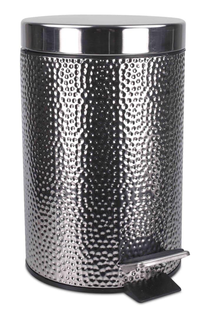Hammered Stainless Steel Waste Bin