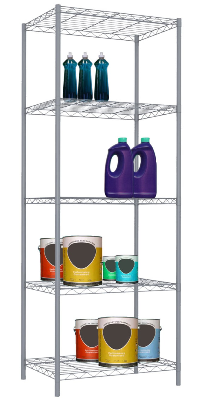 5 Tier Gray Wire Shelf