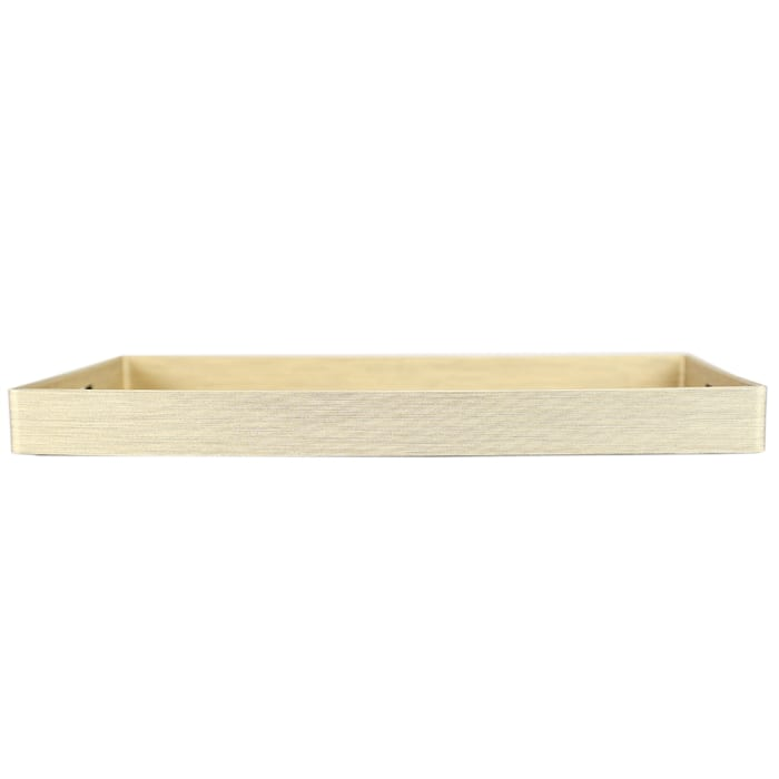 Gold Metallic Weave Serving Tray with Cut-Out Handles