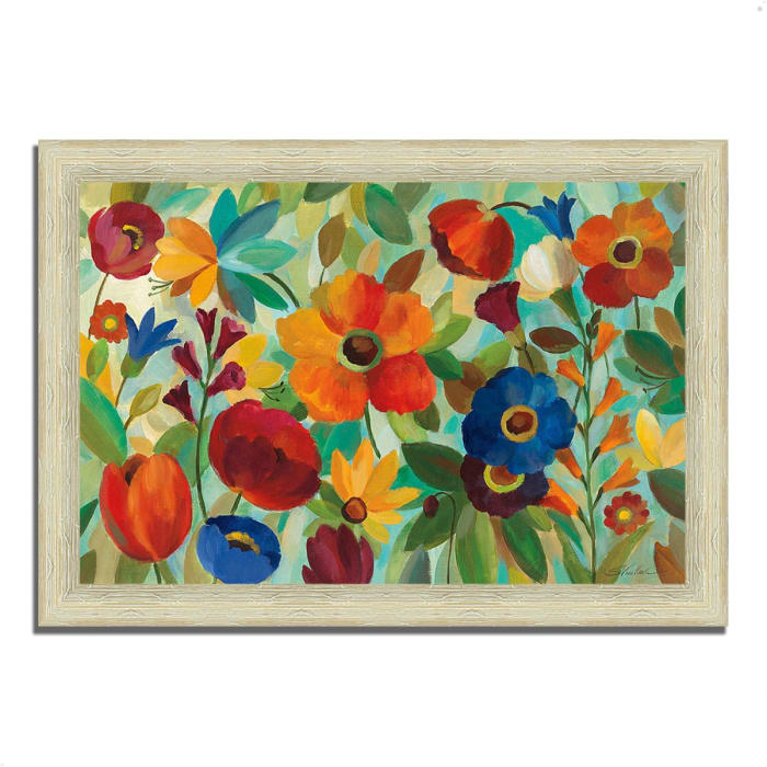 Framed Painting Print 36 In. x 26 In. Summer Floral V by Silvia Vassileva Multi Color