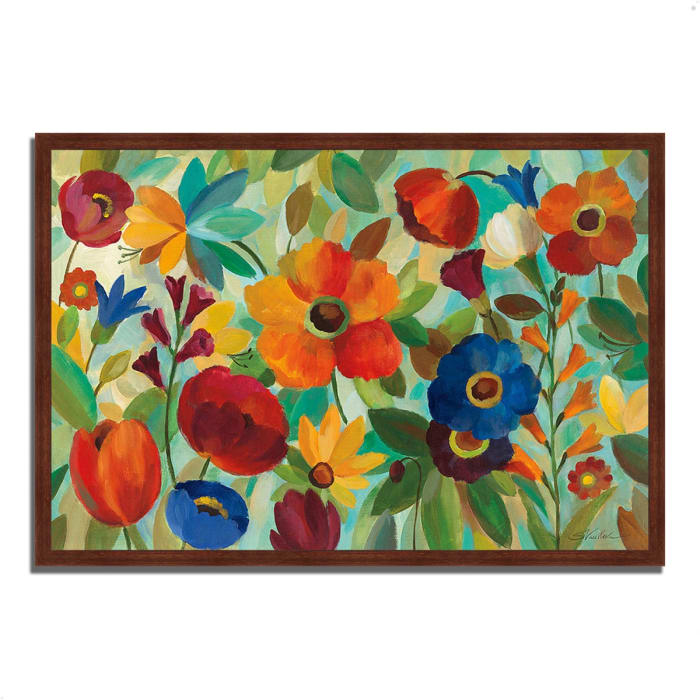Framed Painting Print 32 In. x 22 In. Summer Floral V by Silvia Vassileva Multi Color