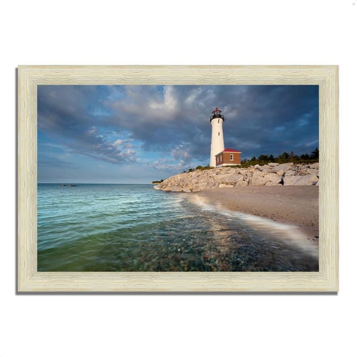 Framed Photograph Print 63 In. x 44 In. Crisp Point Lighthouse Multi Color