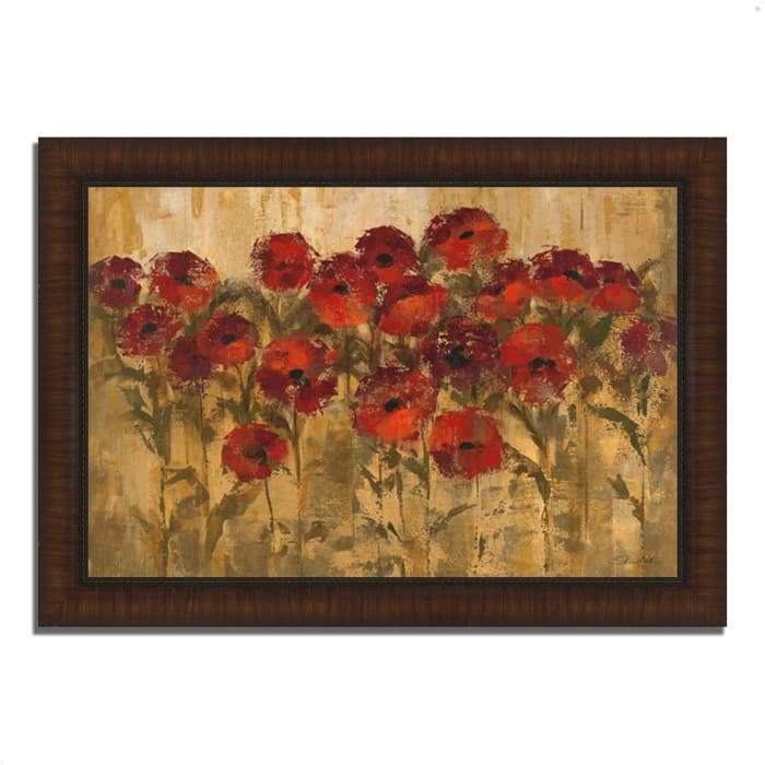 Framed Painting Print 51 In. x 36 In. Sunshine Florals by Silvia Vassileva Multi Color