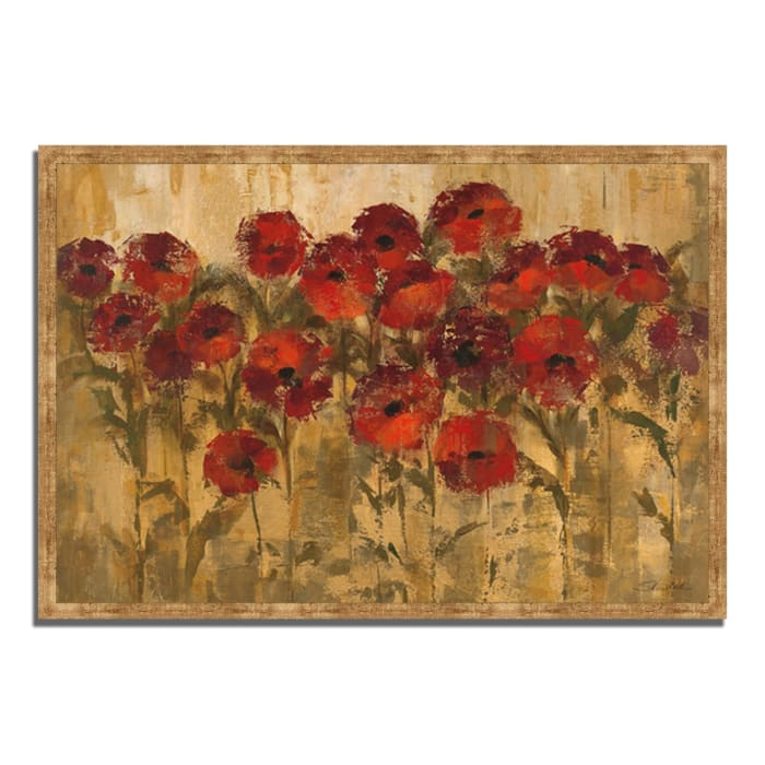 Framed Painting Print 59 In. x 40 In. Sunshine Florals by Silvia Vassileva Multi Color