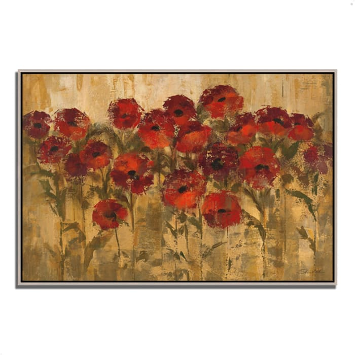 Fine Art Giclee Print on Gallery Wrap Canvas 38 In. x 26 In. Sunshine Florals by Silvia Vassileva Multi Color