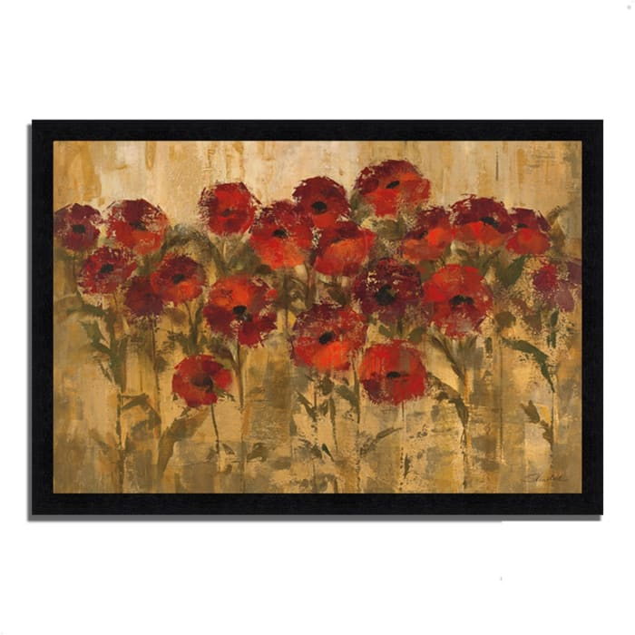 Framed Painting Print 46 In. x 33 In. Sunshine Florals by Silvia Vassileva Multi Color