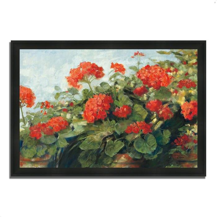 Framed Painting Print 33 In. x 23 In. Geranium Wave by Carol Rowan Multi Color