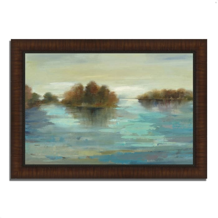 Framed Painting Print 42 In. x 30 In. Serenity on the River by Silvia Vassileva Multi Color