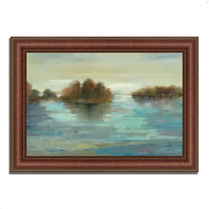 Framed Painting Print 64 In. x 45 In. Serenity on the River by Silvia Vassileva Multi Color