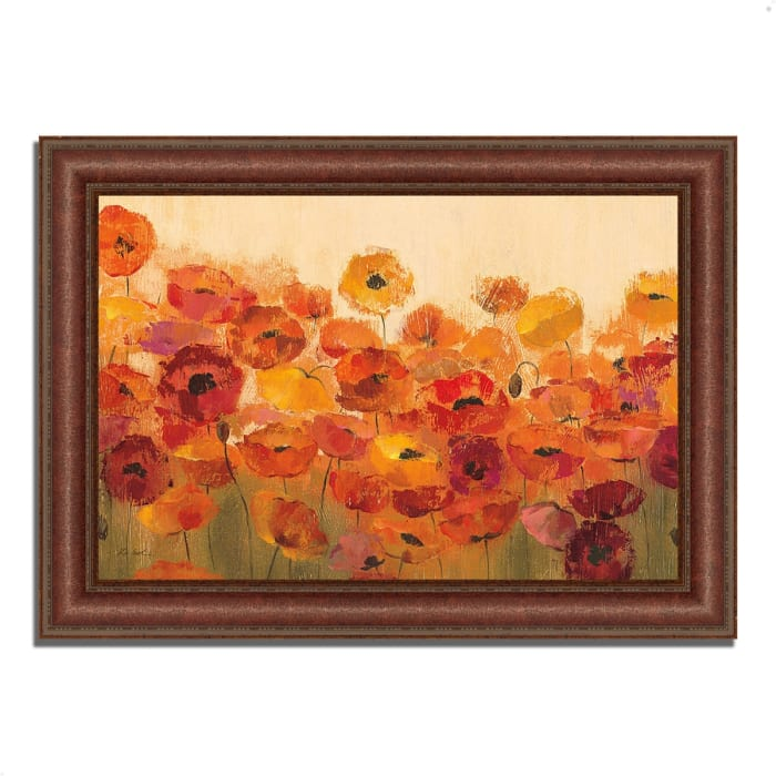 Framed Painting Print 43 In. x 31 In. Summer Poppies by Silvia Vassileva Multi Color