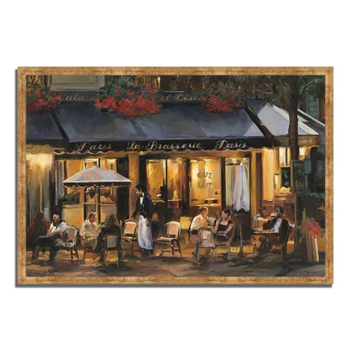 Framed Painting Print 59 In. x 40 In. La Brasserie by Marilyn Hageman Multi Color