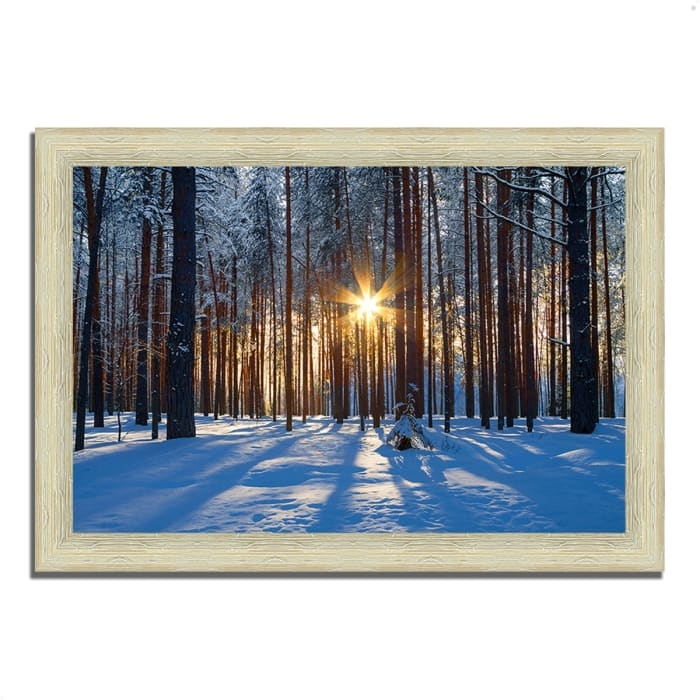 Framed Photograph Print 63 In. x 44 In. Sunset Starburst Multi Color