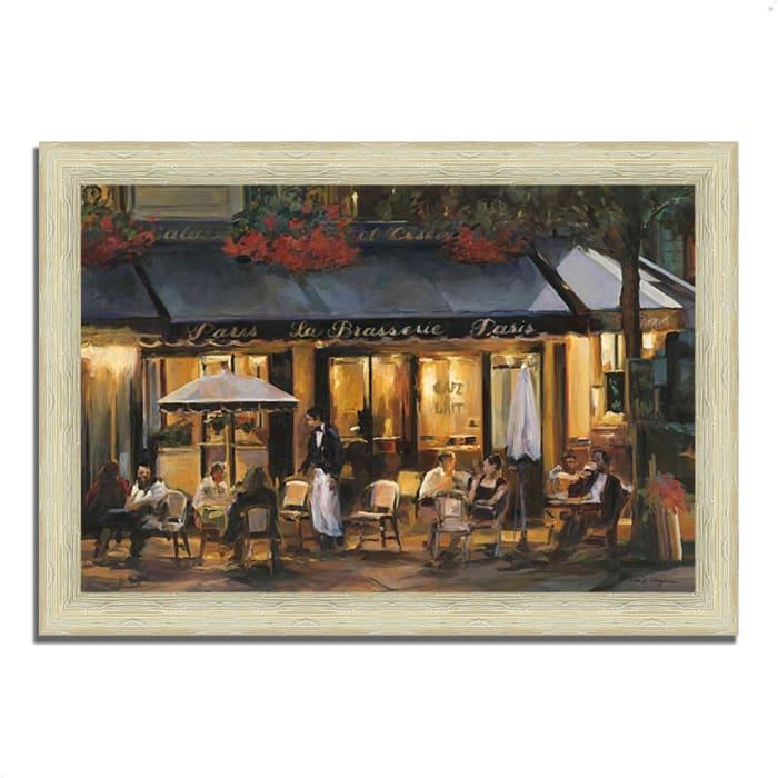 Framed Painting Print 36 In. x 26 In. La Brasserie by Marilyn Hageman Multi Color