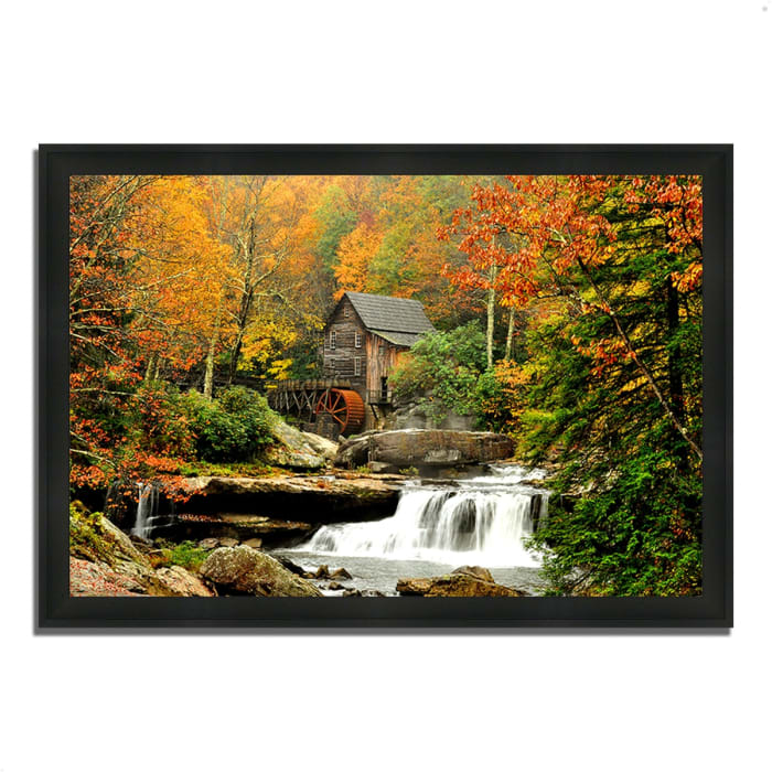 Framed Photograph Print 33 In. x 23 In. The Old Mill Multi Color