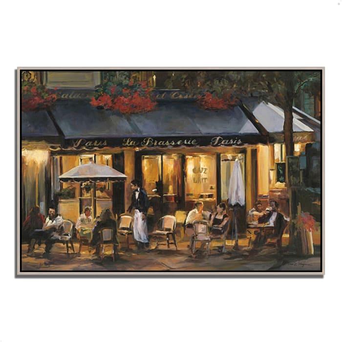 Fine Art Giclee Print on Gallery Wrap Canvas 59 In. x 40 In. La Brasserie by Marilyn Hageman Multi Color