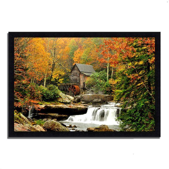 Framed Photograph Print 46 In. x 33 In. The Old Mill Multi Color