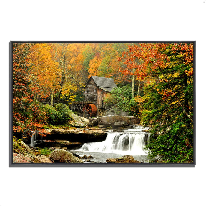 Fine Art Giclee Print on Gallery Wrap Canvas 47 In. x 32 In. The Old Mill Multi Color
