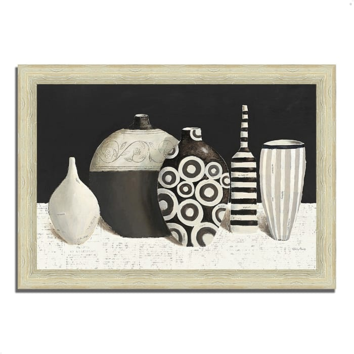 Framed Painting Print 51 In. x 36 In. Objet d'Art by Emily Adams Multi Color