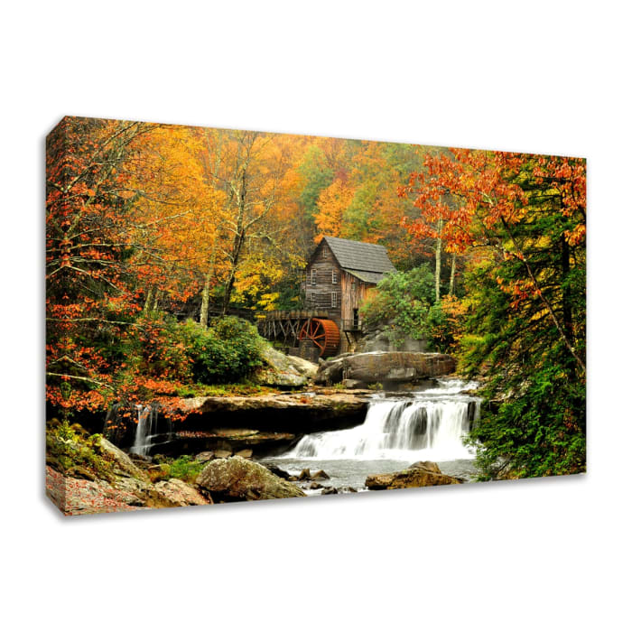 Fine Art Giclee Print on Gallery Wrap Canvas 57 In. x 38 In. The Old Mill Multi Color