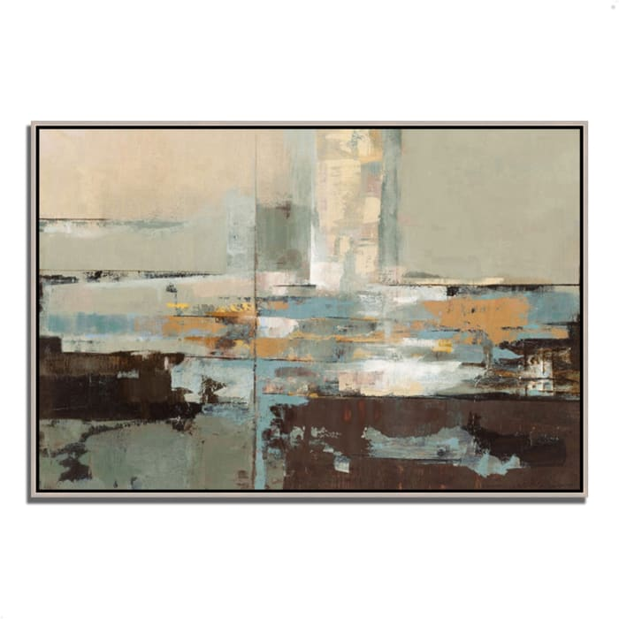 Fine Art Giclee Print on Gallery Wrap Canvas 32 In. x 22 In. Morning Haze by Silvia Vassileva Multi Color
