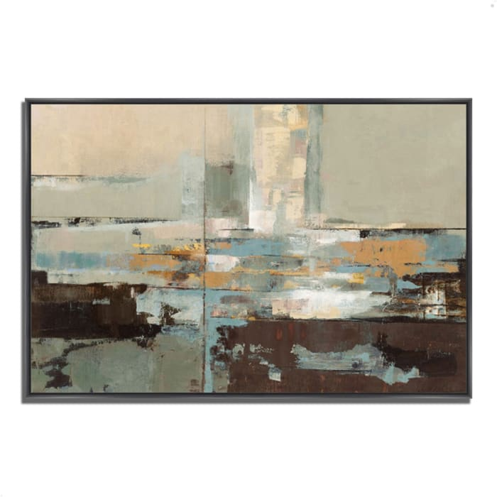 Fine Art Giclee Print on Gallery Wrap Canvas 47 In. x 32 In. Morning Haze by Silvia Vassileva Multi Color